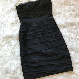 MONIQUE LHUILLIER BRIDESMAID BLACK DRESS